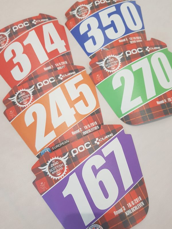 race numbers, enduro number boards